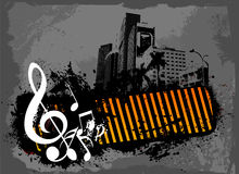 Grunge nocy muzyki notatka Fotografia Stock