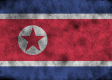 Grunge North Korea flag. Stock Photos