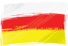Grunge North and South Ossetia flag Royalty Free Stock Images