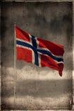 grunge Norway bandery Obraz Stock