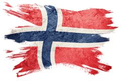 Grunge Norway flag. Norway flag with grunge texture. Brush stroke. Brush stroke Flag stock images