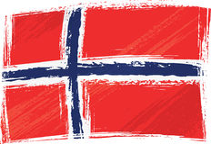 Grunge Norwegen Markierungsfahne Lizenzfreies Stockbild