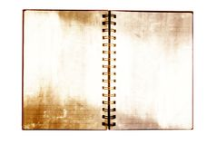 Grunge Notebook On The White. Royalty Free Stock Photos