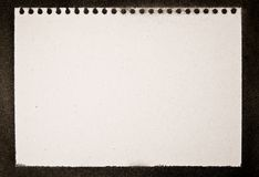Grunge Notepad Print Royalty Free Stock Photos