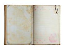 Grunge Notizbuch Stockbild