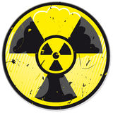 Grunge nuclear power sign Royalty Free Stock Photography