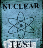Grunge nuclear teast sign Royalty Free Stock Photos