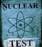 Grunge nuclear teast sign Royalty Free Stock Photos