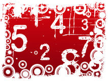Grunge Number Background Stock Photo