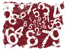 Grunge Number Background Royalty Free Stock Photo