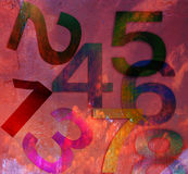 Grunge number on wall Royalty Free Stock Photos