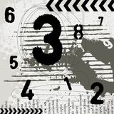 Grunge numbers. Numbers with grunge background vector Stock Photos