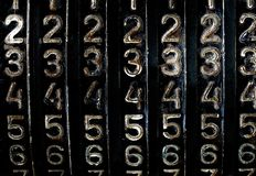 Grunge numbers. See more similar images in my portfolio Stock Photo