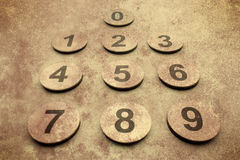 Grunge numbers background Stock Image