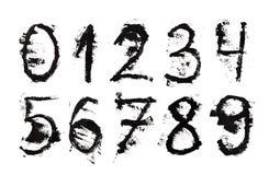 Grunge numbers Stock Photos