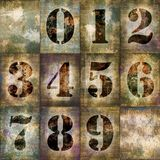Grunge numbers set Royalty Free Stock Photos