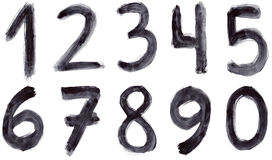 Grunge numbers. Set of grunge numbers on white background Stock Image