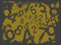 Grunge numrerar bakgrund fotografering för bildbyråer