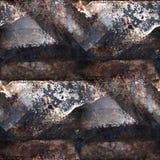 Grunge ośniedziała bezszwowa tekstura żelazo z miejscem Fotografia Royalty Free