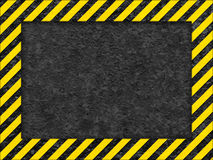 Grunge Oberfläche als warnendes Feld Stockbild