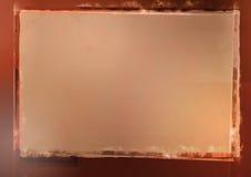 Grunge obramiający beżowy tło Fotografia Royalty Free