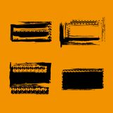 Grunge Off Road Tire Stamps stock illustration