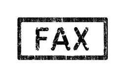 Grunge Office Stamp - FAX. Grunge Office Stamp with the words FAX in a grunge splattered text. (Letters have been uniquely designed and created by hand Stock Photo