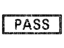 Grunge Office Stamp - PASS vector illustration