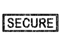 Grunge Office Stamp - SECURE Royalty Free Stock Image