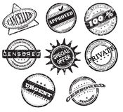 Grunge office stamps Stock Images