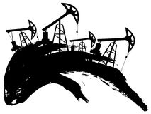 Grunge Oil Pump Stock Image