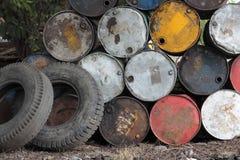 Grunge Oil Tank Stock Photo