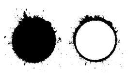 Grunge okrąg i kleks ikona ilustracja wektor