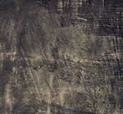 Grunge old black metal plate as background texture. Square format. Stock Photo