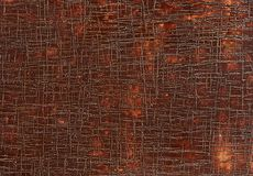 Grunge old brown leather texture background, macro, selective focus. royalty free stock photos