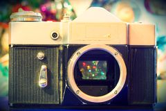 Grunge Old Camera Royalty Free Stock Photography