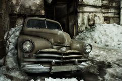 Grunge old car Royalty Free Stock Photos