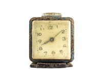 Grunge old alarm clock in isolate background decoration Stock Photos