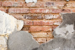 Grunge old cracked wall show bricks texture Stock Photo