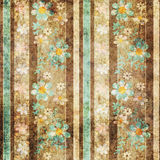 Grunge old flowers floral pattern background Royalty Free Stock Image