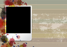 Grunge old frame picture design Stock Image
