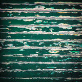 Grunge old green color wood panels Stock Images