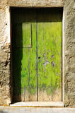 Grunge old green door Royalty Free Stock Photo