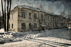 Grunge old house Stock Images