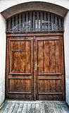 Grunge old house home wooden door Royalty Free Stock Photo