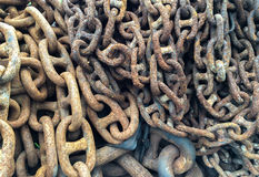 Grunge Old Industrial Metal Chain Background Texture Stock Photos