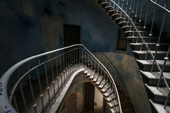 Grunge, old interior staircase Stock Photography