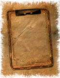 Grunge old notebook. On the abstract background in scrapbooking style Royalty Free Stock Photo