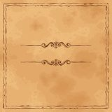 Grunge old paper background  with hand drawn frame Royalty Free Stock Photography