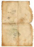 Grunge old paper with spot for design Stock Images
